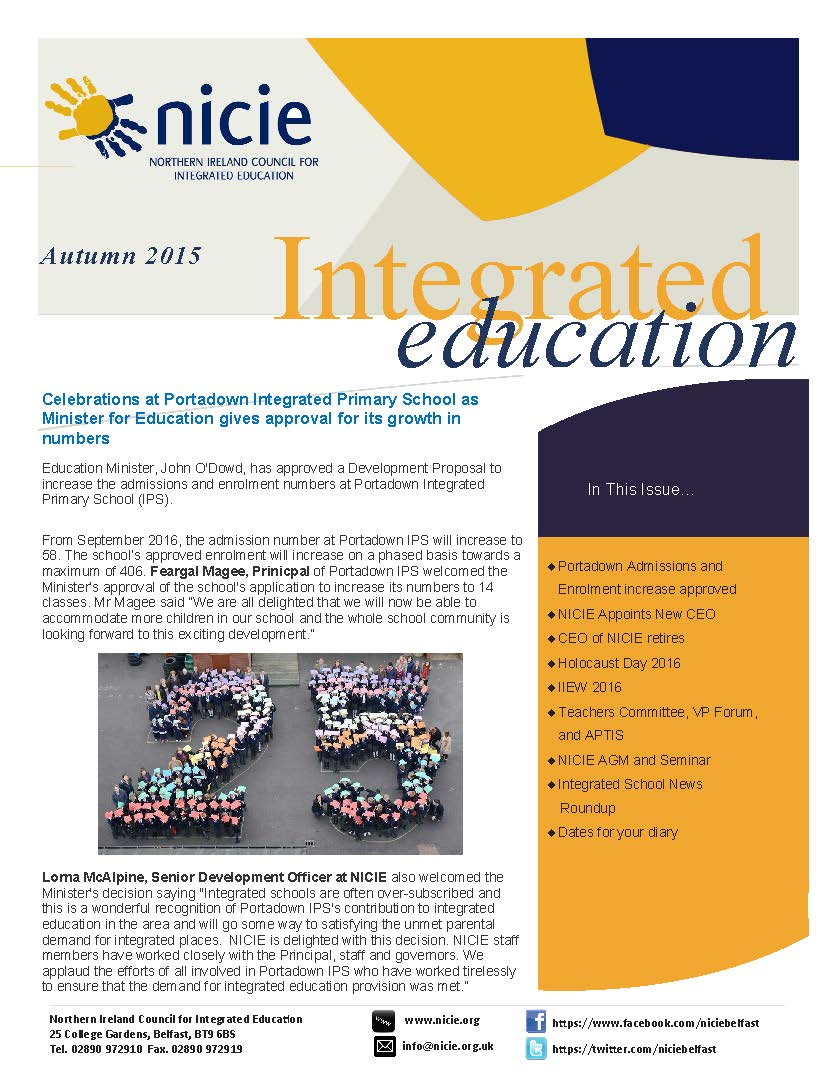 NICIE Newsletter Autumn 2015