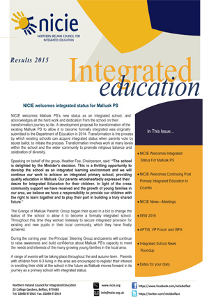 NICIE Newsletter Exam Results 2015