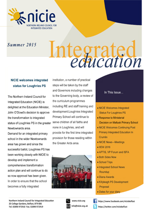 NICIE Newsletter Summer 2015