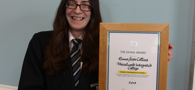 Emma Rose has won a prestigious 'Diana Award' for being a 'Courageous Young Citizen'
