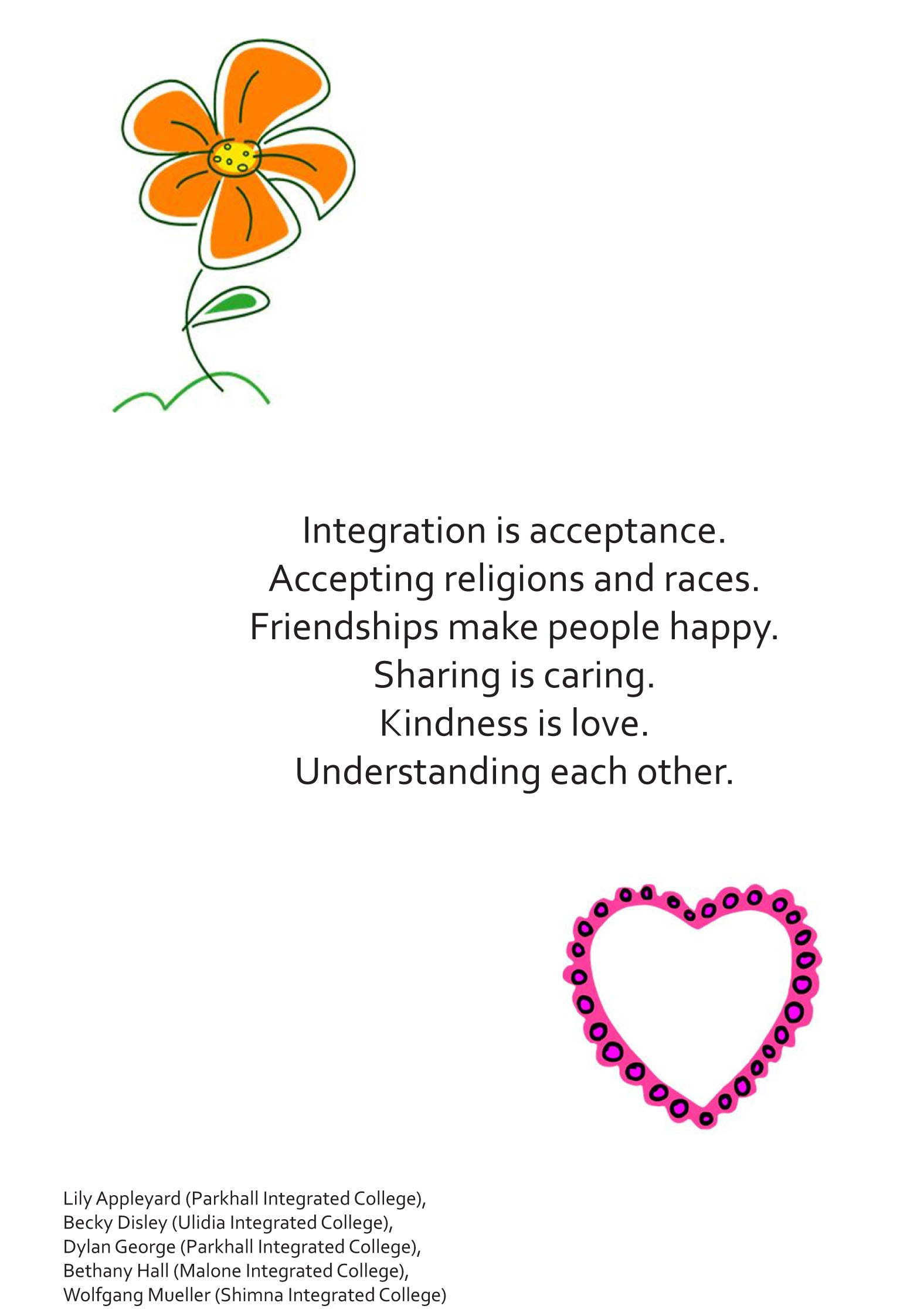 Poem 2: What does 'integration' mean to you? Poetry from ...