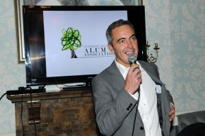 James Nesbitt launching the London Alumni Association